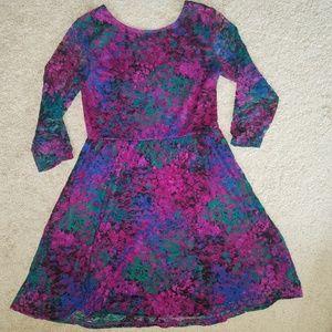 Xhilaration Dresses - Xhiliration Embossed Lace Babydoll Dress
